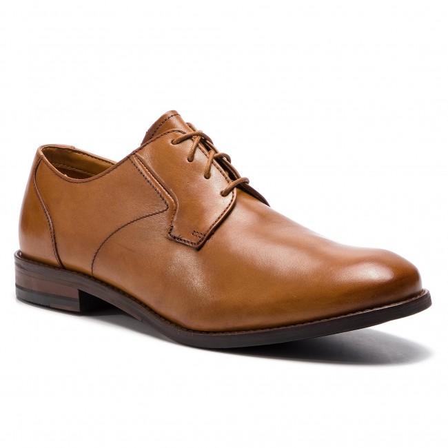 Shoes CLARKS Edward Plain 261395367 Tan Leather