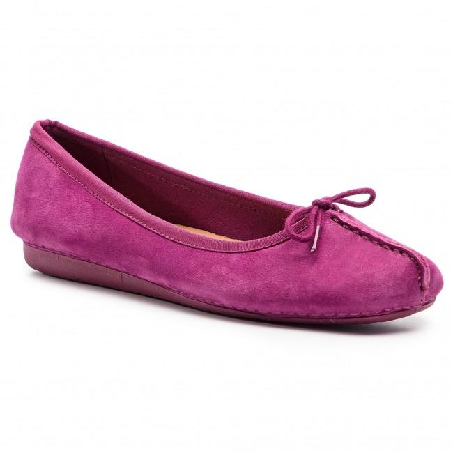 352d0a7f11 Flats CLARKS - Freckle Ice 261416594 Raspberry Nubuck - Ballerina shoes -  Low shoes - Women's shoes - efootwear.eu