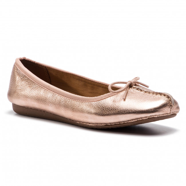 Clarks Freckle Ice Ballerina Shoes Women's Shoes Dark