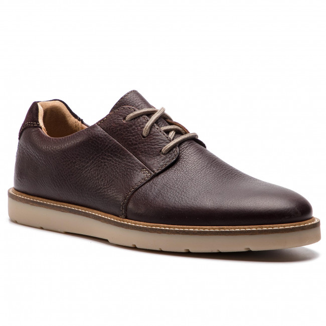 Shoes CLARKS Grandin Plain 261419237 Dark Brown Tumbled