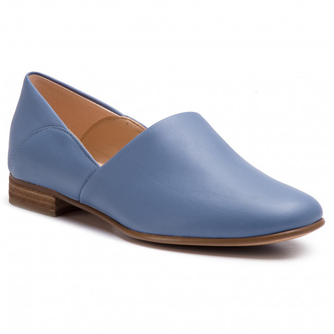 classic styles new list top brands Shoes CLARKS - Pure Tone 261396354 Mid Blue Leather