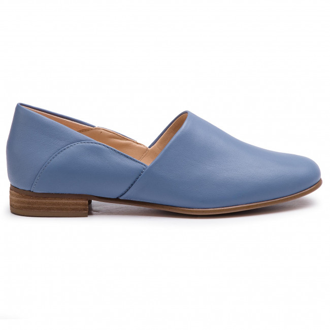 cobertura Persona a cargo del juego deportivo fibra  Shoes CLARKS - Pure Tone 261396354 Mid Blue Leather - Flats - Low shoes -  Women's shoes | efootwear.eu