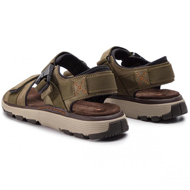 Sandals CLARKS Un Trek Part 261416047 Dark Olive Nubuck