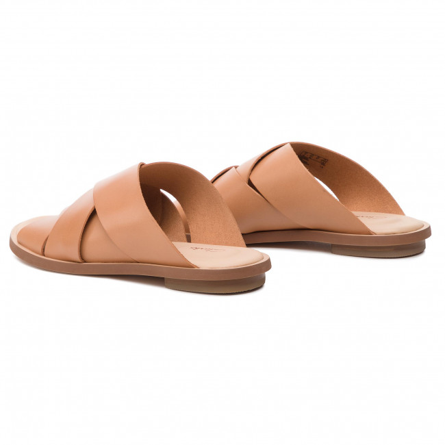 Slides CLARKS Willow Art 261394364 Light Tan Lea