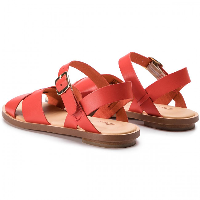 Sandals CLARKS Willow Gild 261407764 Orange Leather 261407764