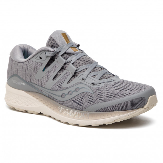 Saucony Mens Ride ISO Running Trainers Grey S20444-41 RRP £120