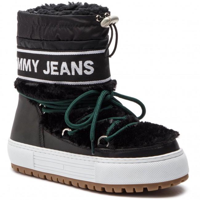 Shoes TOMMY JEANS , Funny Faux Fur Snowboot EN0EN00505 Black 990