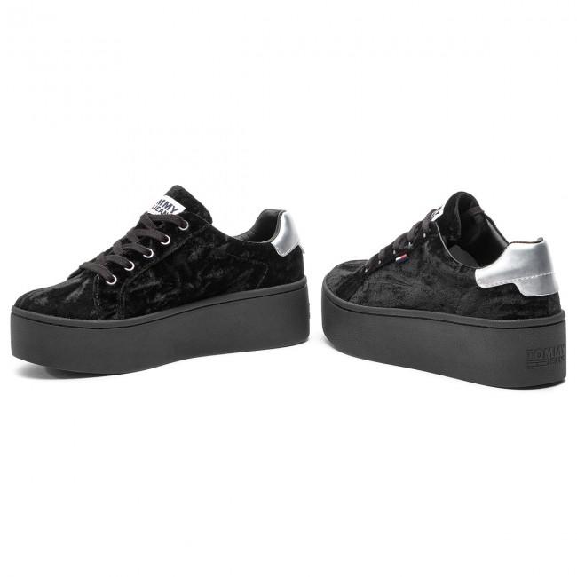 black velvet sneaker