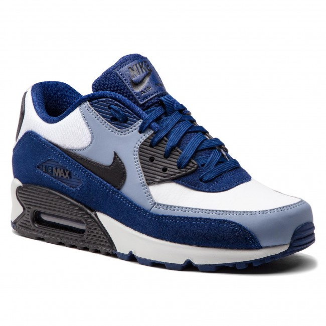 Shoes NIKE Air Max 90 Leather 302519 400 Blue VoidBlackAshen Slate
