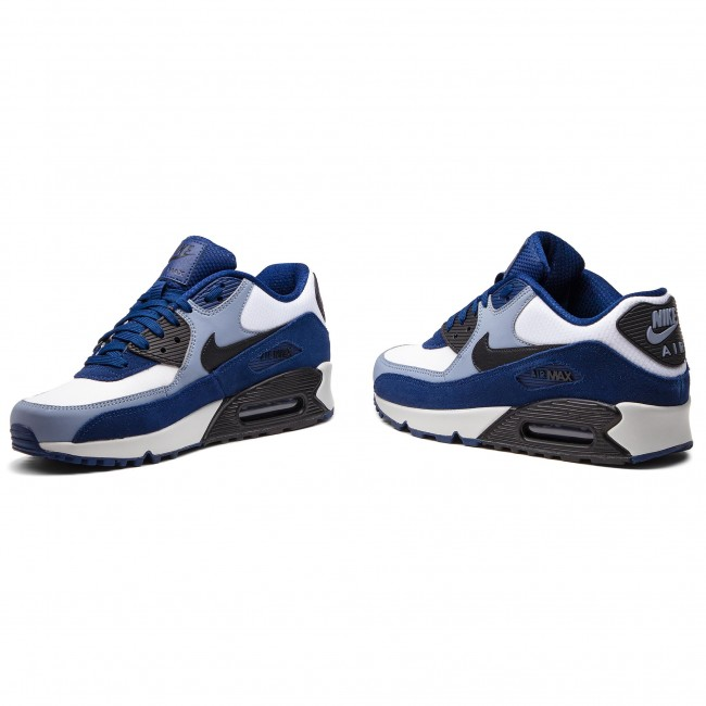zapatos nike air max 90 leather 302519 400 blue void black