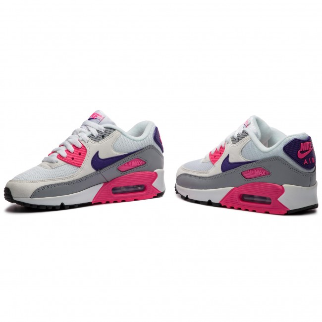 Shoes NIKE Air Max 90 325213 136 WhiteCourt PurpleWolf Grey