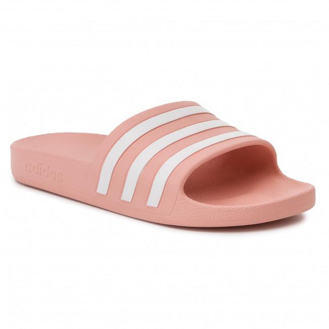 adidas Adilette Aqua Slides Women glow blue footwear white
