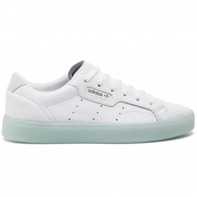 8429b638 Shoes adidas - Sleek W G27342 Ftwwht/Ftwwht/Icemin - Sneakers - Low ...