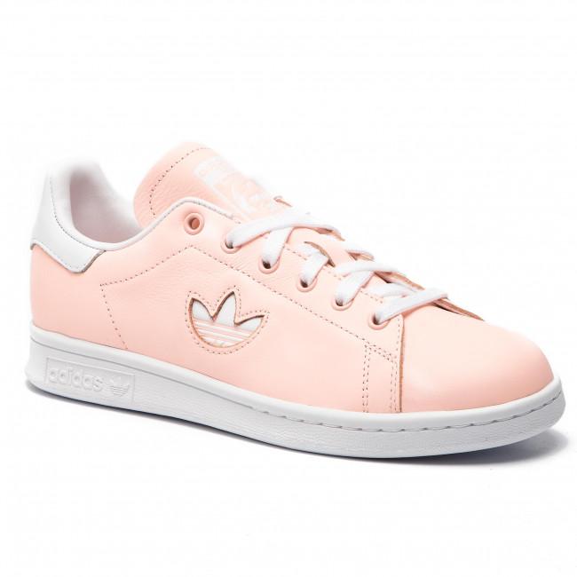 Adidas Herren Originals Stan Smith Weiß Rosa S75187