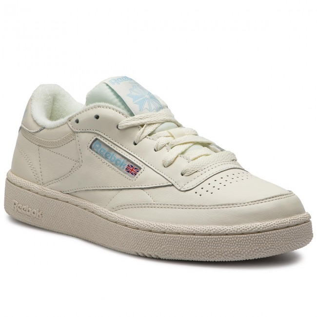 WOMENS REEBOK CLUB C 85 Lace White Leather Reebok Classics