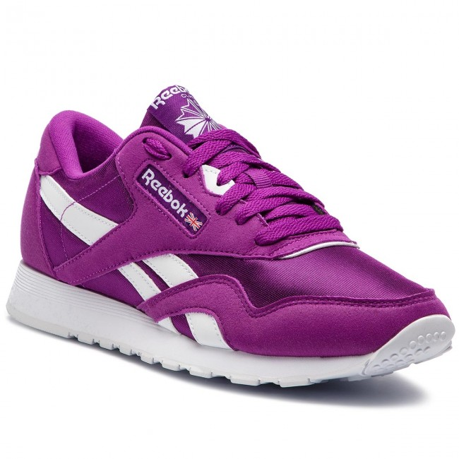 Shoes Reebok Cl Nylon Color CN7451 AubergineWhite