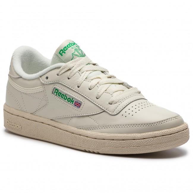 bancarrota Actuación Pies suaves  Shoes Reebok - Club C 85 BS8242 Chalk/Green/White/Red - Sneakers ...