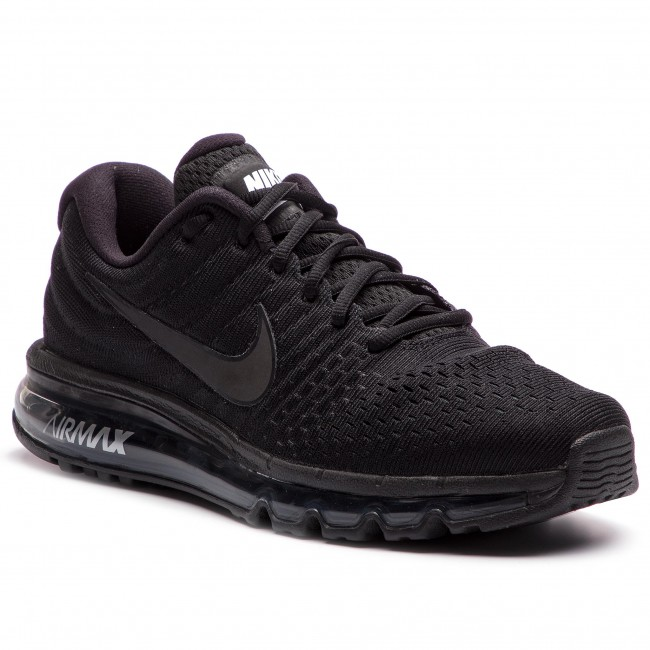 Nike Air Max 2017 Leather Womens Running Shoes Black Copuon