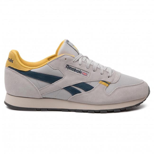 Shoes Reebok Cl Leather Mu CN7177 SteelYellowBlueGrey