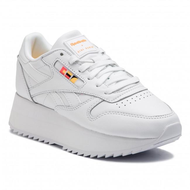 Shoes Reebok Cl Lthr Double DV5391 WhiteNeon RedBlack