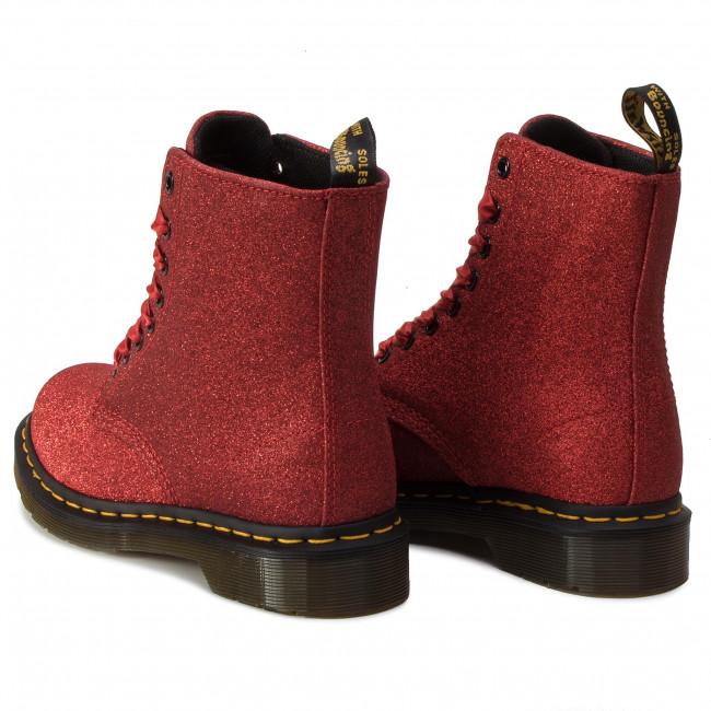 bf2f8b4b2dca Combat Boots DR. MARTENS - 1460 Pascal Glitter 24839602 Red/ Fine Glitter