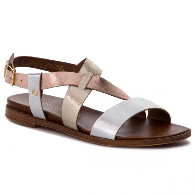 sale usa online many fashionable authentic Sandals MARCO TOZZI - 2-28142-22 Silver Comb 948