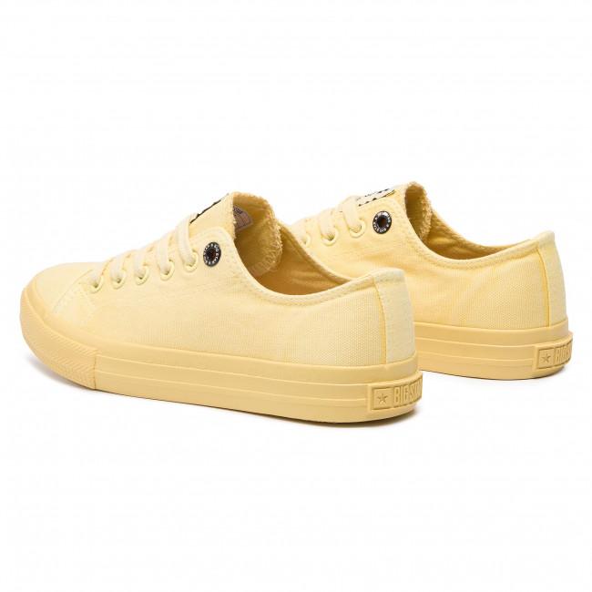 Plimsolls Big Star - Dd274441 Yellow Sneakers Low Shoes Women's