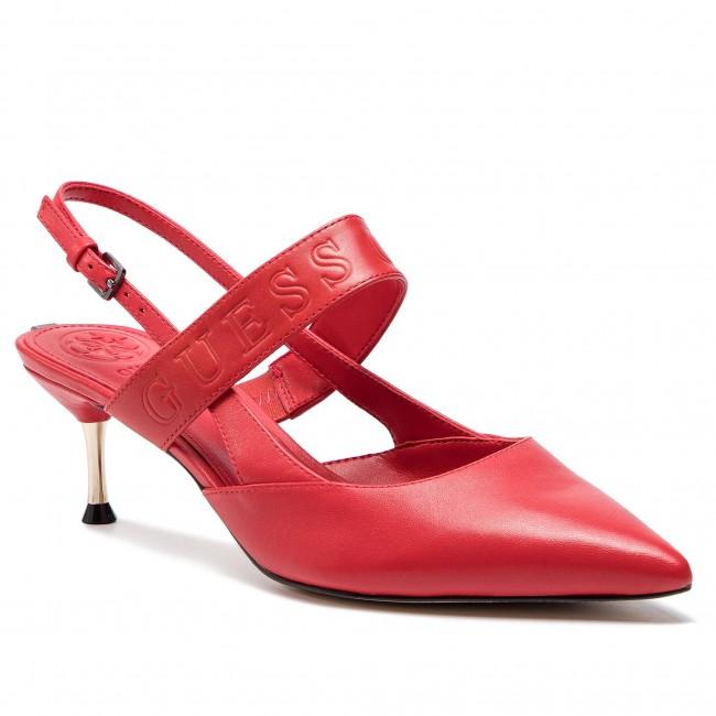 Red Fl6kyl Guess Sandals Elegant Kylin Wok0n8pxn Lea05 TJFK13lc