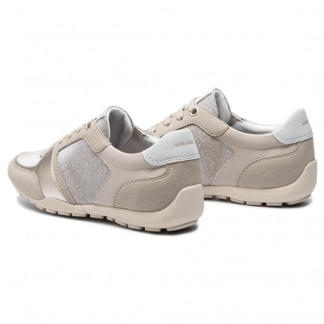 Geox Schuhe RAVEX beige Damenschuhe Halbschuhe D826DB 0EWAF C2UH6 NEU