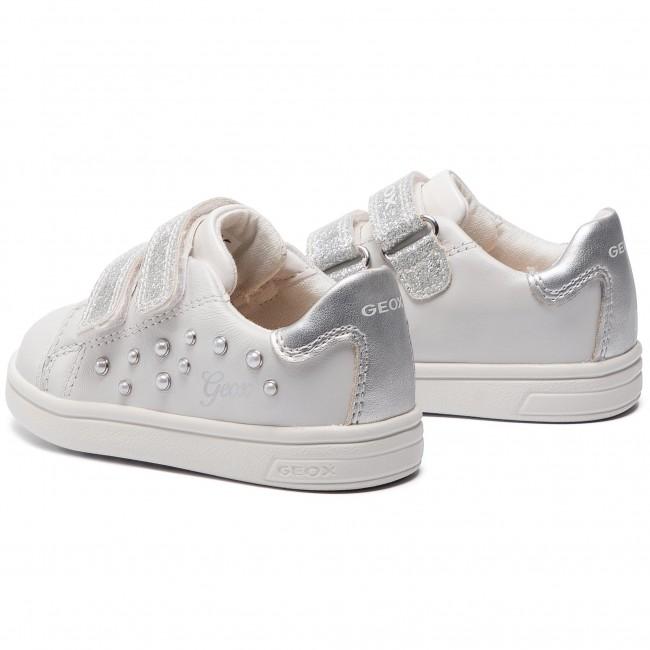 mundo agencia Más temprano  Sneakers GEOX - B Djrock G. B B921WB 044AJ C1000 M White - Velcro - Low  shoes - Girl - Kids' shoes | efootwear.eu