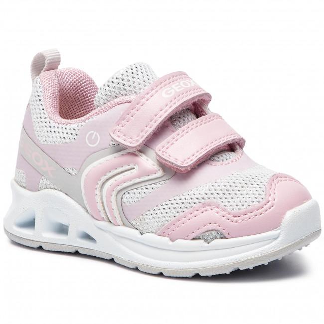 Sneakers GEOX - B Dakin G. A B922VA 0EWBC C0814 M  White/Lt Pink