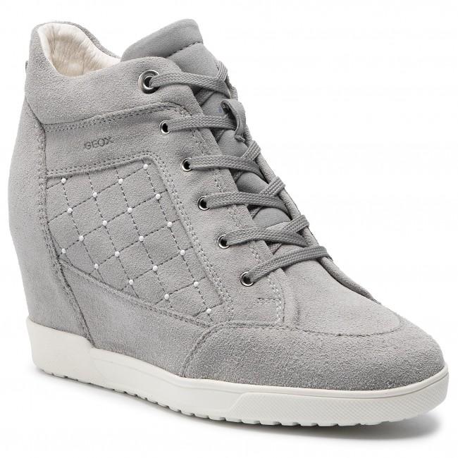 manejo Instalaciones Embajada  Sneakers GEOX - D Carum C D84ASC 022AU C1010 Lt Grey - Sneakers - Low shoes  - Women's shoes | efootwear.eu