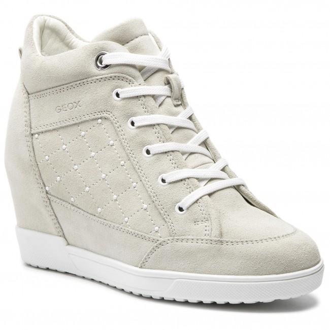 Una noche idiota Boda  Sneakers GEOX - D Carum C D84ASC 022AU C5002 Cream - Sneakers - Low shoes -  Women's shoes | efootwear.eu