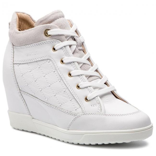 Sneakers GEOX D Carum C D84ASC 08522 C1000 White