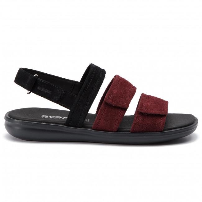 Sandals GEOX D Jearl Sand D D92DRD 00022 C9B7J BlackDk Burgundy dyrgF