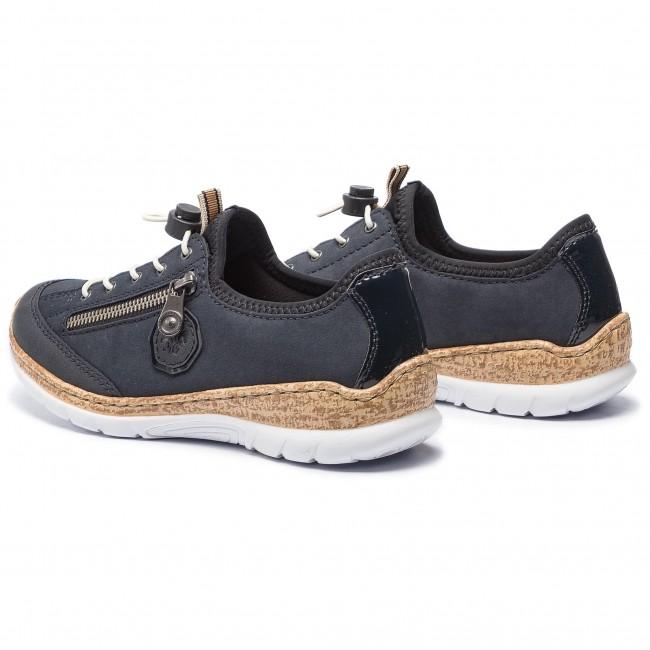 Rieker Damen Sneaker blau N4263 14
