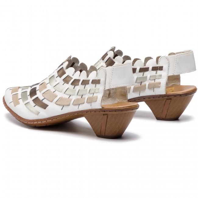 Sandalen RIEKER 46778 62 Beige Kombi