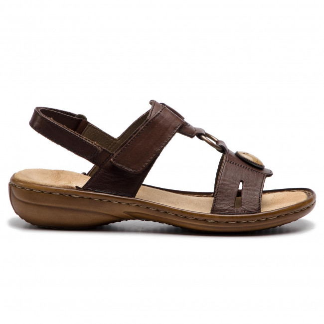 60874 26 Ladies Brown Sandals