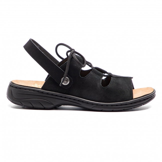 Women's 64570 00 Closed Toe Sandals, (SchwarzSchwarz 00)