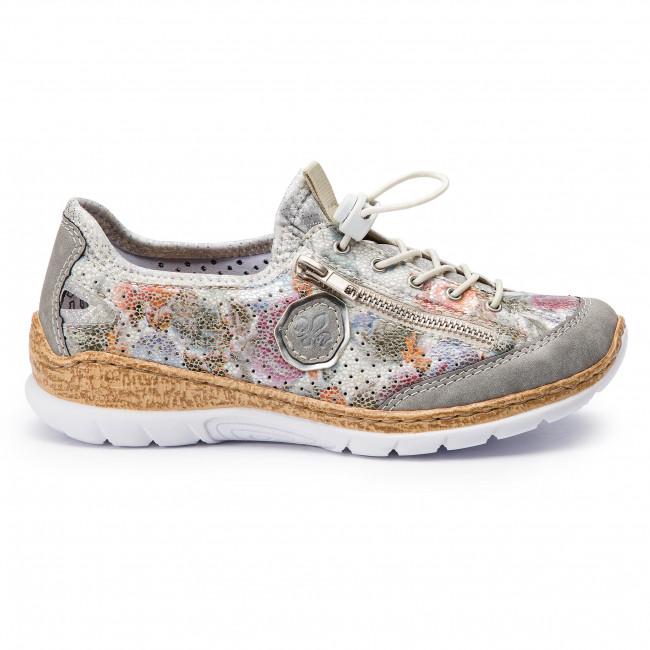 Details zu Rieker Damen Sneaker Grau Multi Schuhe N42V1 40
