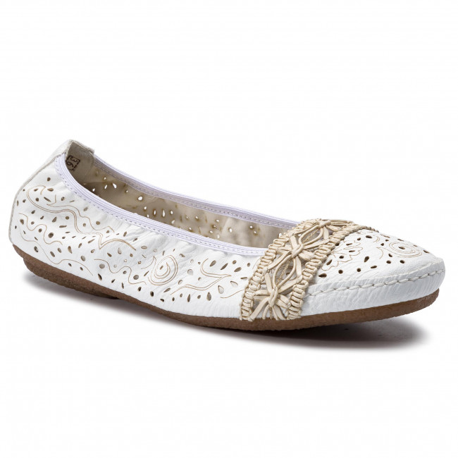 Flats RIEKER 41466 81 Weiss Ballerina shoes Low shoes iZss4