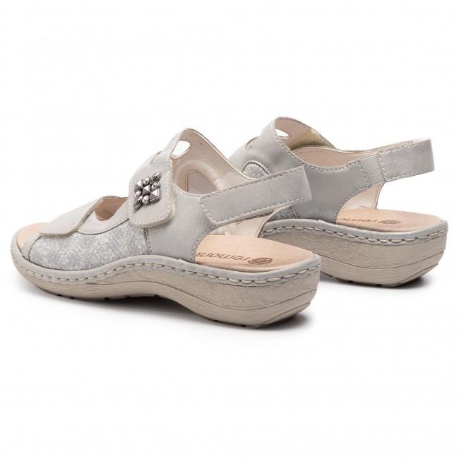 Sandals REMONTE BY RIEKER D7647 90 SilberPlatin Casual ECfQx