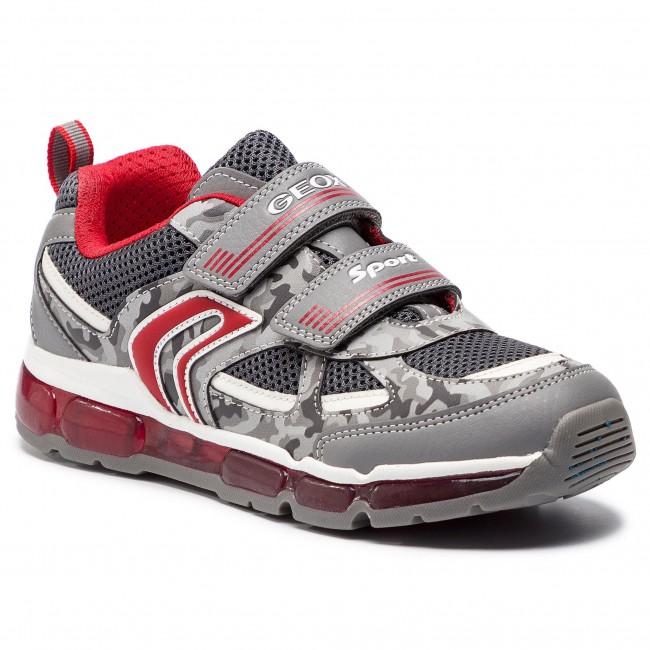 híbrido Sociedad Oponerse a  Sneakers GEOX - J Android B. C J9244C 01454 C0051 DD Grey/Red - Velcro -  Low shoes - Boy - Kids' shoes   efootwear.eu