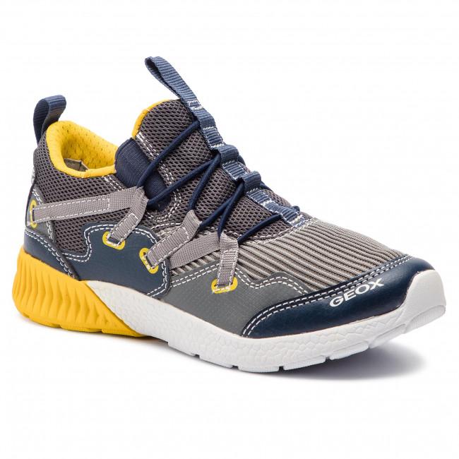 Sneakers GEOX - J Sveth B. A J926PA 014BU C0070 S Dk Grey/Yellow