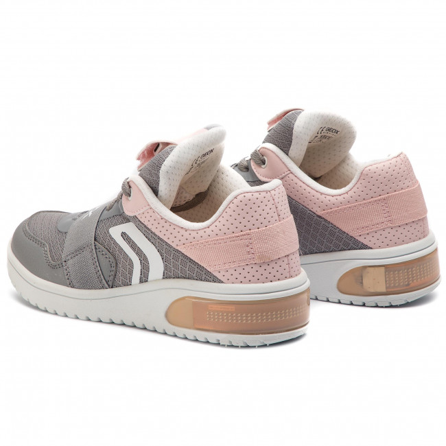 Sneakers GEOX J Xled G. A J928DA 014BU C1F8W S GreyLt Rose