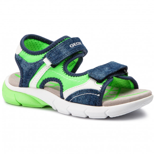 Sandals GEOX J S.Flexyper B. A J929DA 01413 C4457 S BlueFluo Green
