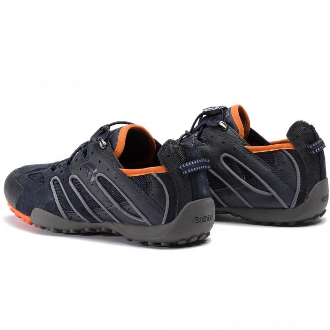 Shoes GEOX U Snake J U4207J 02214 C0820 NavyOrange