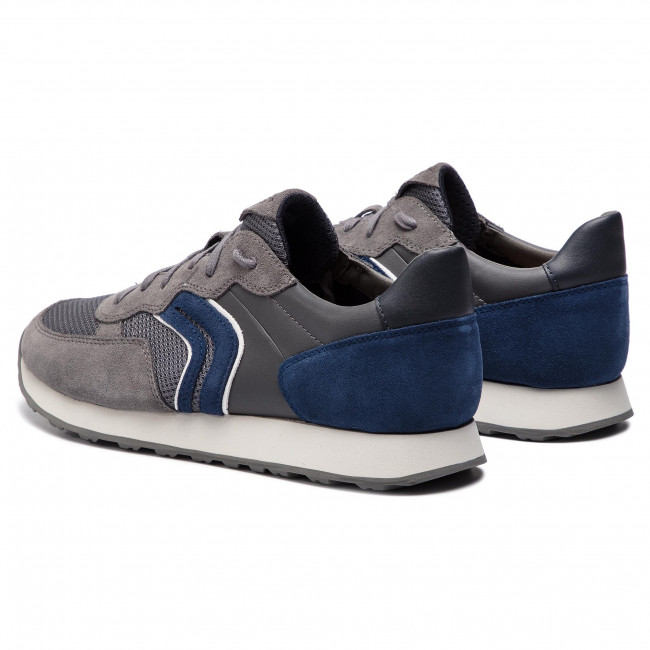 Sneakers GEOX U Vincit B U845VB 02214 C1F4R GreyDk Royal RV08u