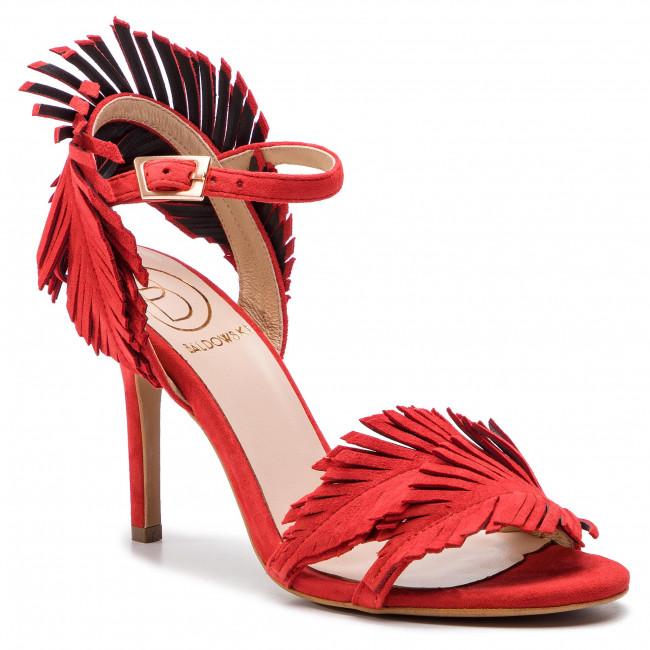 Sandals BALDOWSKI - D02417-3436-003 Zamsz Czerwony 6343