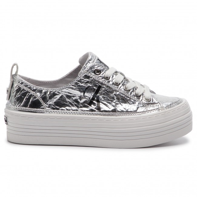 Silver Zolah Calvin Klein Sneakers Jeans Re9848 EWD9H2I